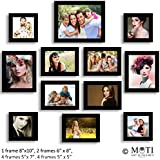 "12 Pc Black Photo Frame Wall Collage, 1Pc 8"" X 10"",2Pc 6"" X 8"", 5 Pc 5"" X 7"", 4Pc 5"" X 5"""