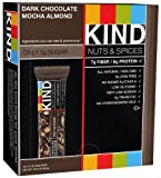 Kind Nuts & Spices Chocolate Bar, Dark Chocolate Mocha Almond, 1.4 oz, Pack of 12 by Kind Nuts and Spices