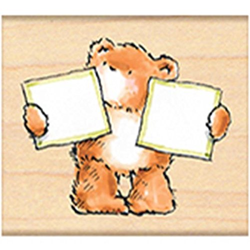 Penny Black 302347 Bear Blank-2 Mounted Rubber Stamp, 2 by 2.25-Inch - 1