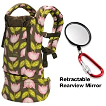 ERGO Baby Carrier Organic Petunia Pickle Bottom Heavenly Holland with Retractable Rearview Mirror