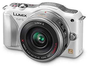 Panasonic Lumix DMC-GF5XW Live MOS Micro 4/3 Compact Sytem Camera with 3-Inch Touch Screen and 14-42 Power Zoom Lens (White)