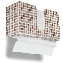"TrippNT 51909 Retro Dots Plastic Dual-Dispensing Paper Towel Holder, 11"" Width x 6"" Height x 4"" Depth"