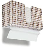 "TrippNT 51339 Retro Dots Plastic Dual-Dispensing Paper Towel Holder, 10 7/8"" Width x 6 1/2"" Height x 4 1/4"" Depth"