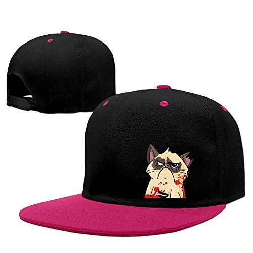 YTTUWS Unisex Grumpy Cat Cool Adjustable Snapback Hip-hop Baseball Hat
