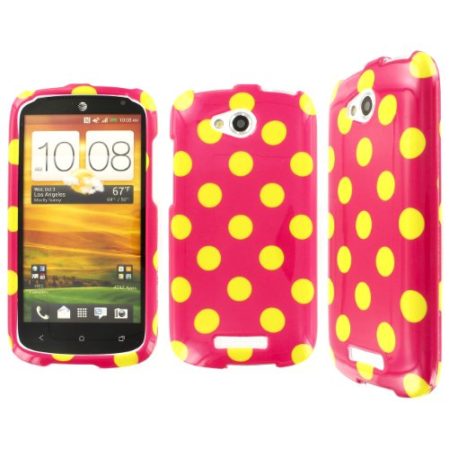 Click to buy One VX Case, EMPIRE Full Coverage Electric Lemonade Hot Pink Polka Dot Case for HTC One VX - From only $28.99