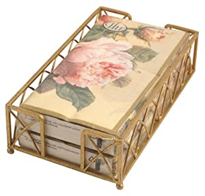 Ideal Home Range Napkin Caddy Gift Set with Fairy Rose Buffet Napkins