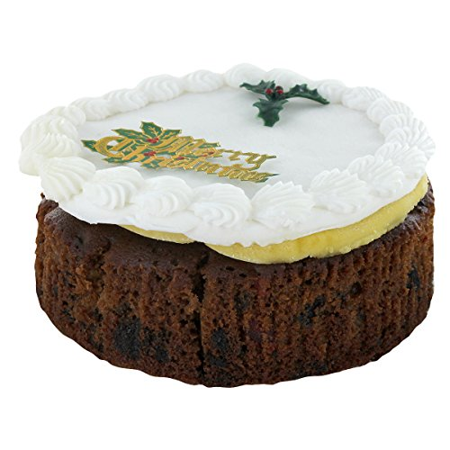 Top Iced Christmas Cake by Norfolk Manor - 32oz - 907g English Cakes