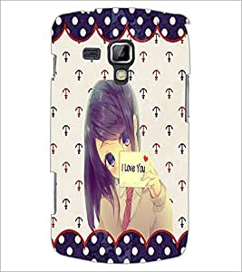 PrintDhaba I Love You Girl D-1104 Back Case Cover for SAMSUNG GALAXY S DUOS 2 S7582 (Multi-Coloured)