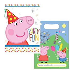 Gemma International Gemma International Peppa Pig Party Favor Bags|8 pcs