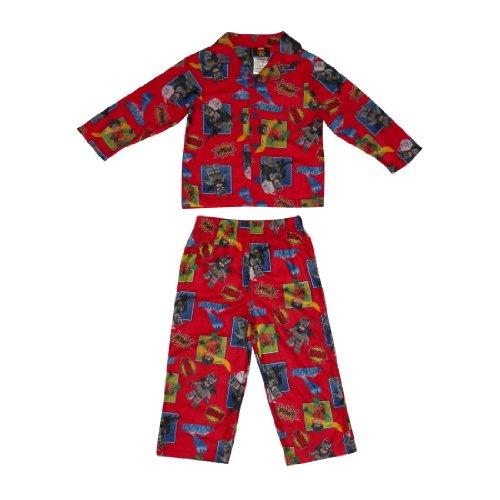 2 PCS SET: Boys Or Girls Batman Fleece Sleepwear Pajama Top & Pants Set