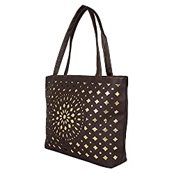Glory Fashion Women's Stylish Handbag Brown BB-001-B00192