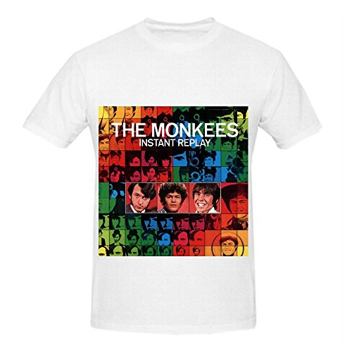 the-monkees-instant-replay-electronica-men-crew-neck-custom-shirt-white