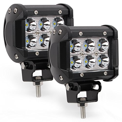 CoolYeah 18W Cree Led Dual Rows Work Light Bar Spot Beam for Offroad Fog Driving Suv Truck Car UTV ATV Boat Tow Tractor(Pack of 2) (Fog Light Xj compare prices)