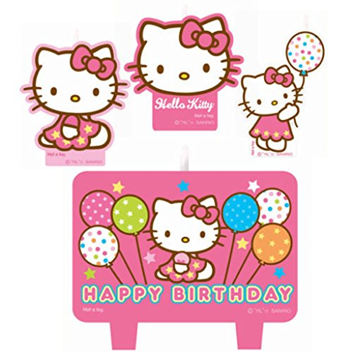 Hello-Kitty-Birthday-Cake-Candle-Set-Party-Supplies-Pink