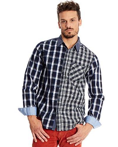 Desigual Camicia Uomo Irlanda [Blu Navy]