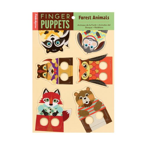 Mudpuppy Forest Animals Finger Puppets - 1