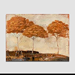 Unframed classical oil painting canvas print painting poplar tree Wall Art Picture for Living Room Wall Pictures For Bedroom B Style 12x16 30x40cm