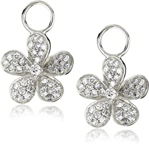 "KC Designs ""Charmed Life"" Prong Diamond 14k White Gold Flower Ear Charm"