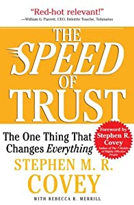 "Cover of ""The SPEED of Trust: The One Thi..."