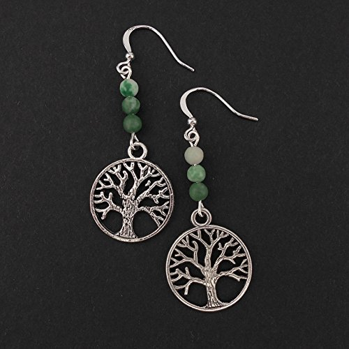 tree-of-life-long-drop-silver-tone-earrings-with-green-ching-hai-jade