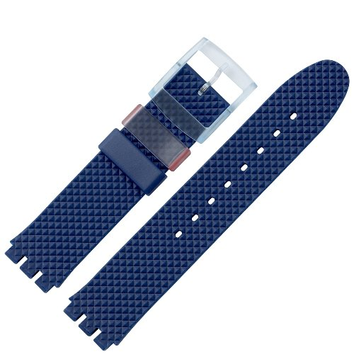 uhrenarmband 18mm kunststoff blau swatch spezialansto leicht profilierte oberfl che. Black Bedroom Furniture Sets. Home Design Ideas