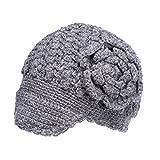 Women's Cottage Knit Newsboy Crocheted Wool Hat