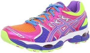 ASICS Women's GEL-Nimbus 14 Running Shoe,Light Bright/Grape/Pink,6.5 M US