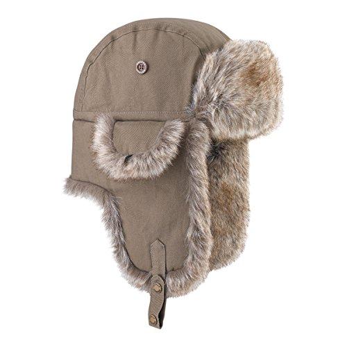 Brekka, Cappello Cotton Eco Russia, Marrone (Mud), 58