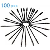 niceeshop(TM) Disposable Thin Handle Eyelash Mascara Applicator Brush Wands (Black,100pcs)