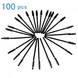 TOMTOP 100 pcs Disposable Eyelash Mascara Applicator Wand Brush