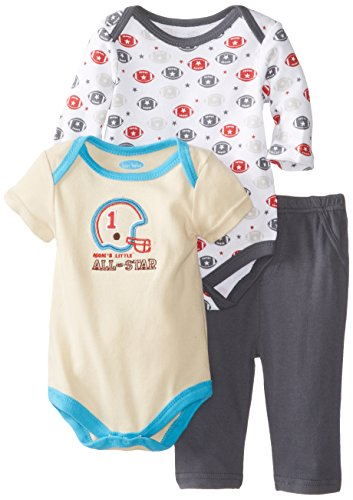 Bon Bebe Baby-Boys Newborn Mom'S Little All Star Pant Set With 2 Bodysuits, Multi, 6-9 Months front-1044194