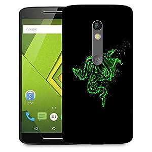 Snoogg Green Razer Logo Designer Protective Phone Back Case Cover For Lenovo Motorola Moto G4