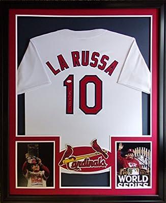 Tony LaRussa Framed Jersey Signed JSA COA Autographed St Louis Cardinals