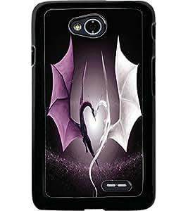 ColourCraft Beautiful Dragon Heart Design Back Case Cover for LG L70