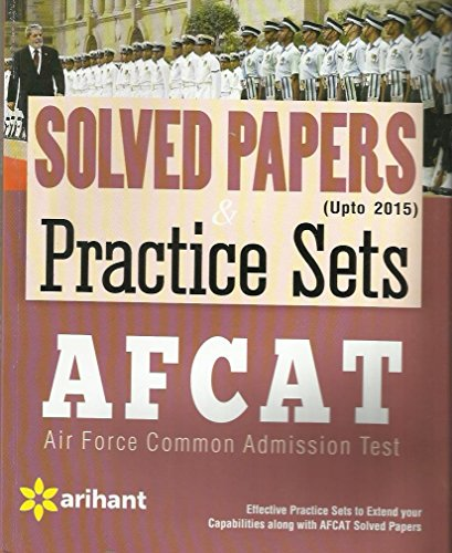 Afcat (Air Force Common Admission Test) Solved Papers ...