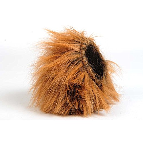 Lion Mane Cat Wig & Pet Dog Mane Lion Wigs Mane Hair Fancy Dress Costume L Brown Toy-like Lion Mane Stuffed & Plush Toy Cat Lion Hat for Cats and Dogs Halloween, Christmas