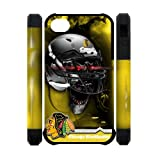 Christmas Gifts NHL Chicago Blackhawks With Skull Helmet Perfect Fit Iphone 4 4S Dual-Protective 3D Polymer Durable Back Case Snap On at Amazon.com