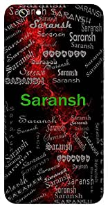 Saransh (In Brief) Name & Sign Printed All over customize & Personalized!! Protective back cover for your Smart Phone : Moto G-4