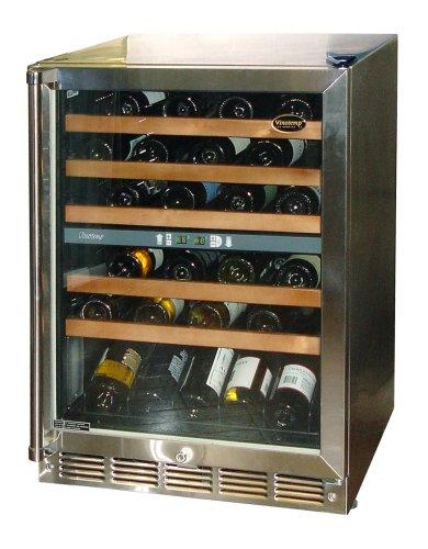 Vinotemp VT-45 Dual-Zone 45-Bottle Front-Venting Wine Chiller, Stainless Steel