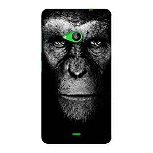 Delighted Black King Chimp Back Case Cover for Lumia 535