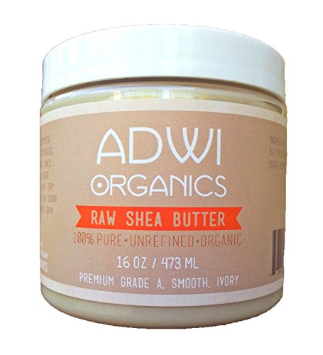 100% Unrefined Organic Raw Shea Butter - Best Pure Premium Grade A - Ivory - Rich In Vitamins A & E - For Natural Skin & Hair Care - Excellent For Use As A Daily Moisturizer - Essential Ingredient For Natural Diy Body Butters, Lotions, Soaps & Other Recip
