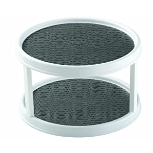 Copco 2555-0187 Non-Skid 2-Tier Cabinet Turntable 12-Inch