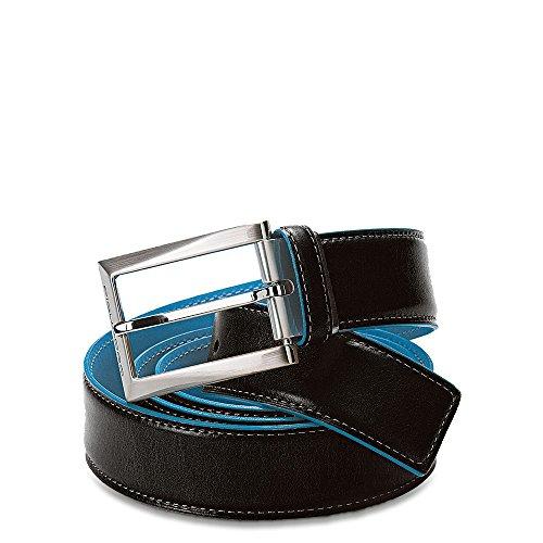 Piquadro Blue Square Cintura Impunture Fibbia Ardiglione U1521 Nero