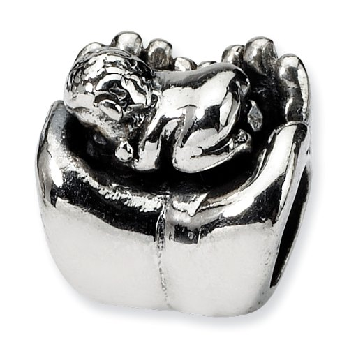Sterling Silver Reflections Baby in Hands Bead (4mm Diameter Hole)