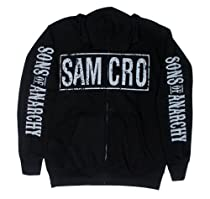 Samcro Logo - Sons Of Anarchy Hooded Sweatshirt: Adult 2XL - Black
