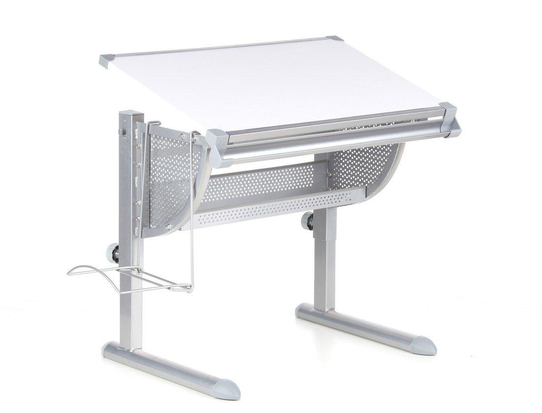 HJH Office 705100 Kinderschreibtisch Belia höhenverstellbar mit neigbar weiss / silber jetzt bestellen