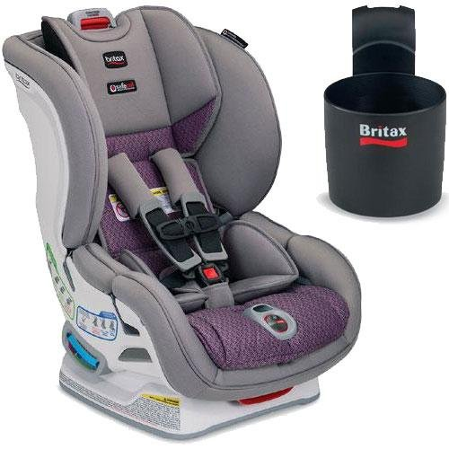Britax - Marathon Clicktight Convertible Car Seat With Cup Holder - Twilight front-943666