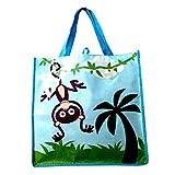 Kids Cartoon Monkey Themed Reuseable Eco-Friendly Tote Bag