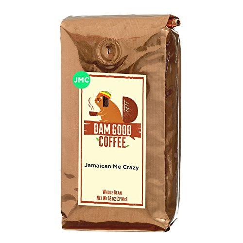 Dam Good Coffee - Jamaican Me Crazy - Taste of Jamaica via a Blend of Kahlua, Caramel & Vanilla - Whole Bean - Rich Body - Smooth & Flavorful - Bulletproof Coffee Ready - 12 Oz (Coffee Beans Coffee Mug compare prices)
