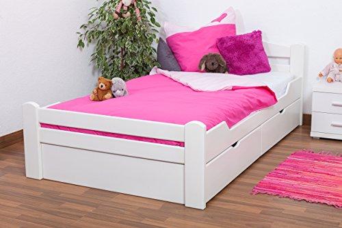 Bettgestell-Gstebett-Easy-Sleep-K4-inkl-2-Schubladen-und-1-Abdeckblende-120-x-200-cm-Buche-Vollholz-massiv-wei-lackiert